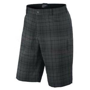 Nike Golf Tech Plaid Men's Dri-Fit Shorts Size 32